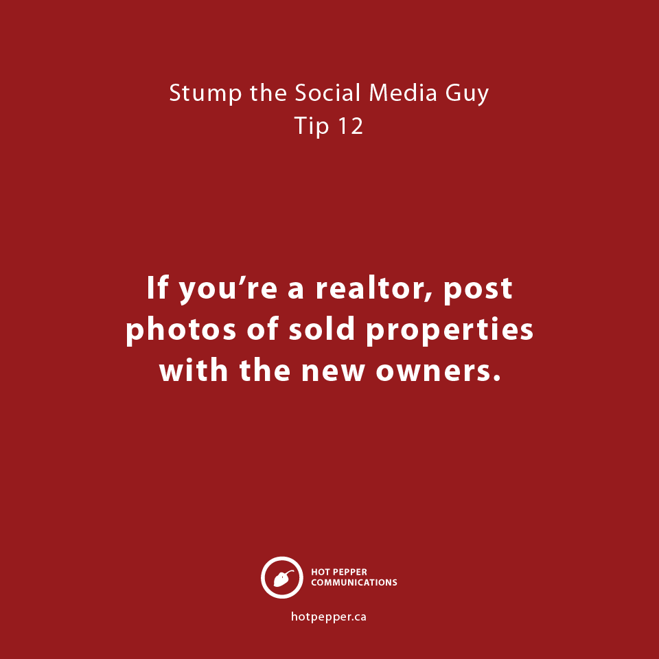 Stump the Social Media Guy: Tip 13, realtor