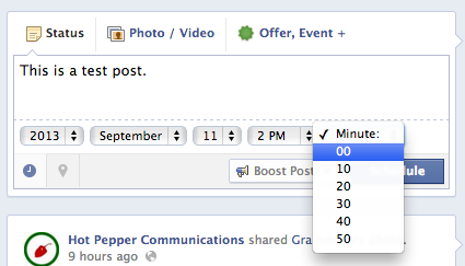 How to schedule Facebook posts in advance