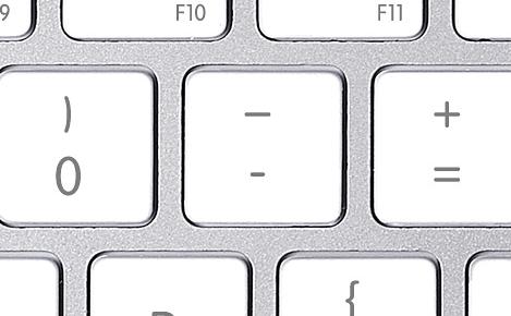 hyphen key