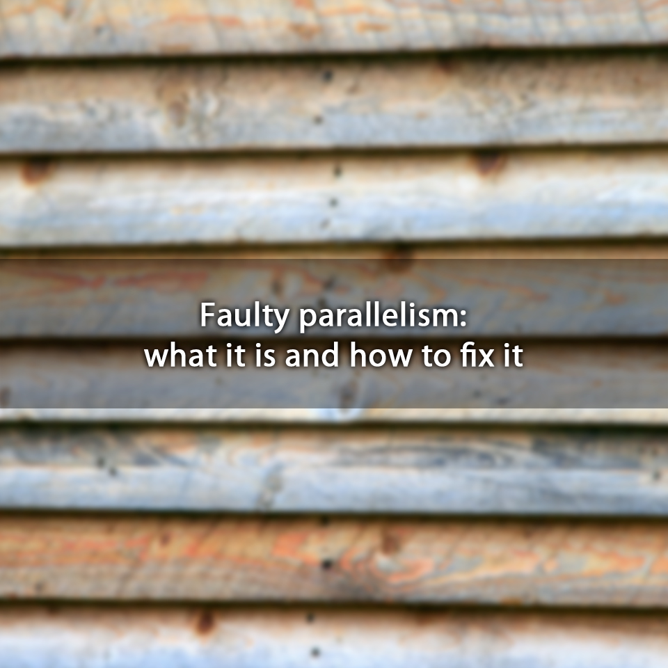 Faulty parallelism: what it is and how to fix it