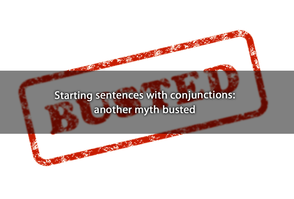 Starting sentences with conjunctions: another myth busted