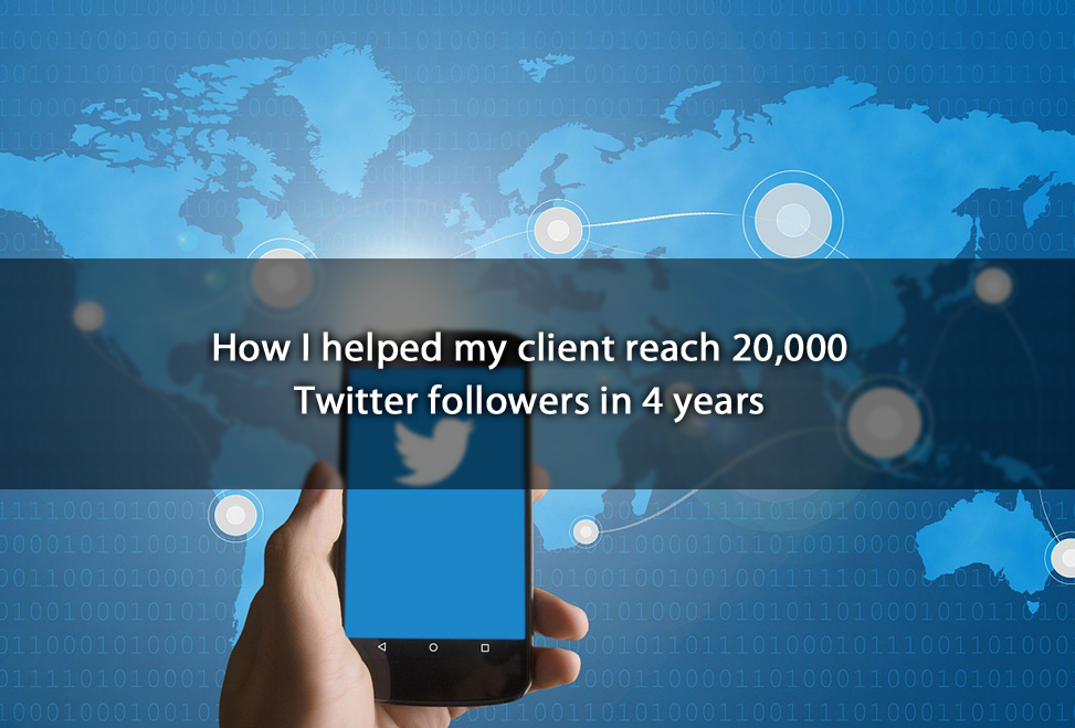 How Ihelped my client reach 20,000 Twitter followers in 4years