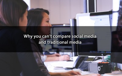 Why you can't compare social media and traditional media